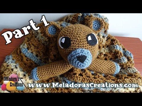 Ravelry: Lovey Blanket Bear Security Blanket Teddy pattern by Tatie | 360x480