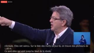 Jean-luc Mélenchon : c'est les femmes qui vont jusqu'au bout de la révolution de 1989