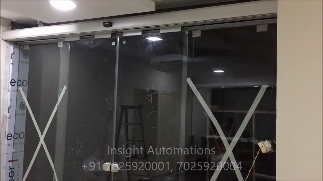 Automatic Sliding Glass Door In Kerala Automatic Sensor Door Youtube