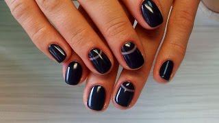 Дизайн ногтей гель-лак shellac - Лунный маникюр - маникюр Dior (видео уроки дизайна ногтей)