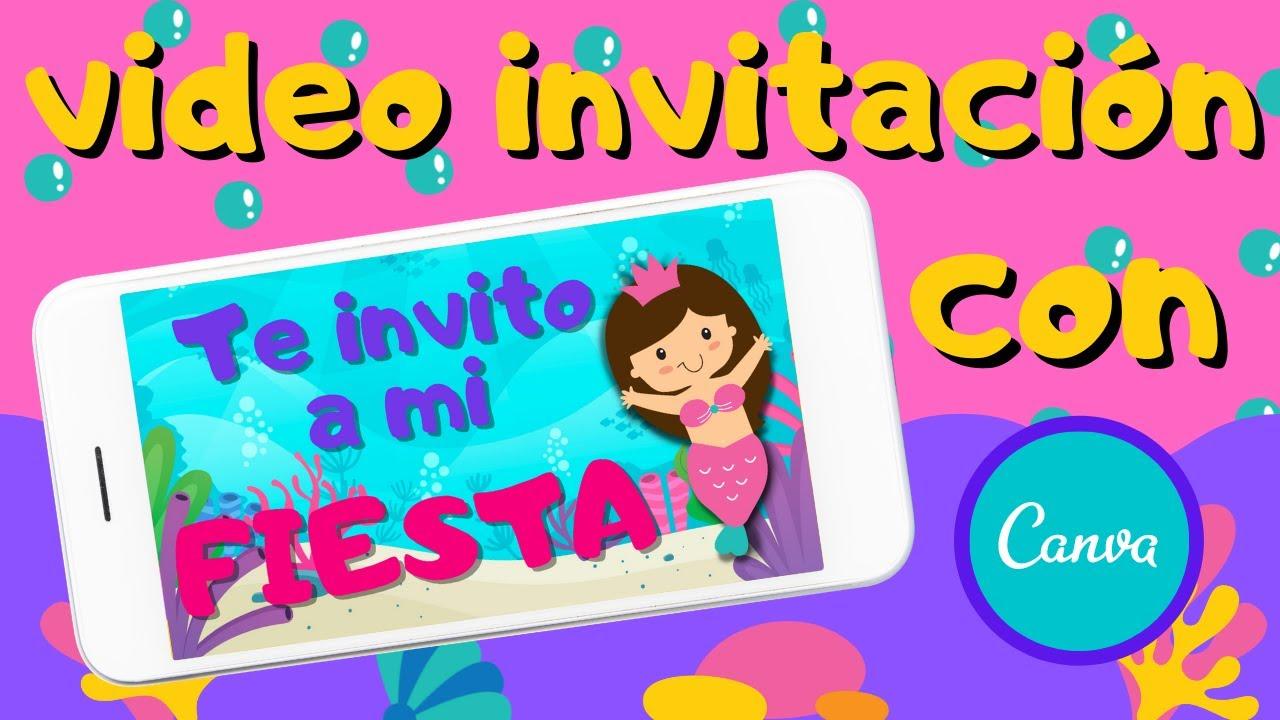 CÓMO hacer una INVITACIÓN ANIMADA  en *CANVA*   Invitación de SIRENA