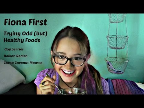 FIONA FIRST: Trying Odd (but Healthy) Foods | goji berries, daikon radish, cocao coconut mousse