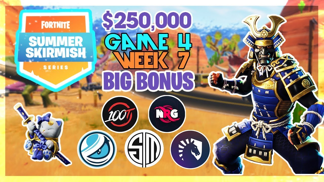 250 000 Big Bonus Summer Skirmish Week 7 Game 4 Fortnite