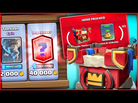 BUYING (RED) UPDATE AND LEGENDARY! • Clash Royale