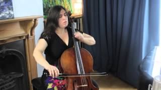 Naomi Wright plays  Prelude , J.S Bach Suite no 3