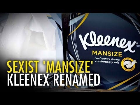 "Kleenex ditches ""deeply sexist"" Mansize branding 