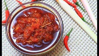 Cách làm Sate Ớt thơm ngon dùng ướp món ăn hay gia vị nêm cho các món nước tuyệt ngon