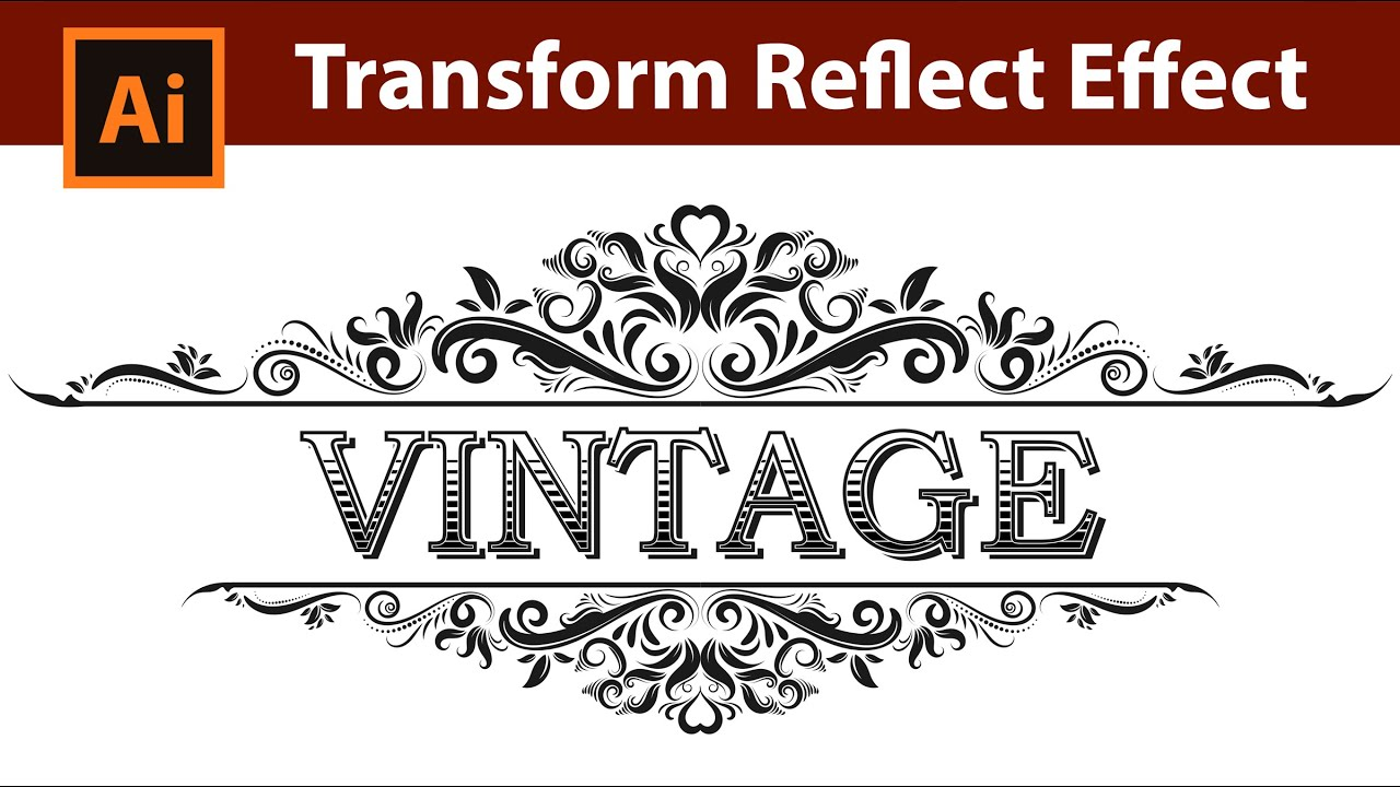 How To Draw A Vintage Ornate Frame In Illustrator Youtube