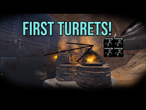 Getting The First Turrets! | Official Small Tribes | ARK: Survival Evolved Ep 17