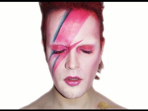 Aladdin sane david bowie makeup tutorial youtube - Aladdin singe ...