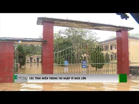(VTC14)_Các tỉnh miền Trung tái ngập vì mưa lớn