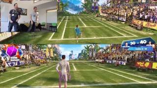 Kinect Sports Rivals Tennis Gameplay - Outside Xbox vs Eurogamer