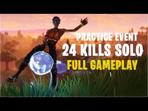 24 Kills Solo - Practice Event | Console - Fortnite Gameplay