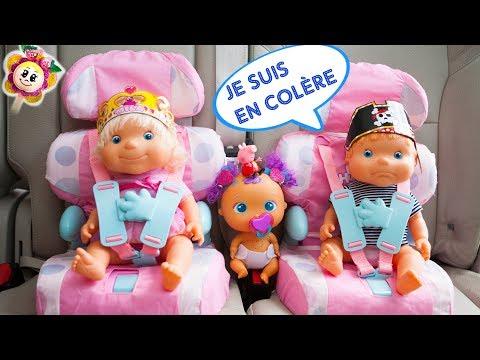 🎉 NOUVEAUX BÉBÉS! Peppa Pig accueille 2 nouveaux amis Mila et Malo dans la voiture de Fraise, Fée