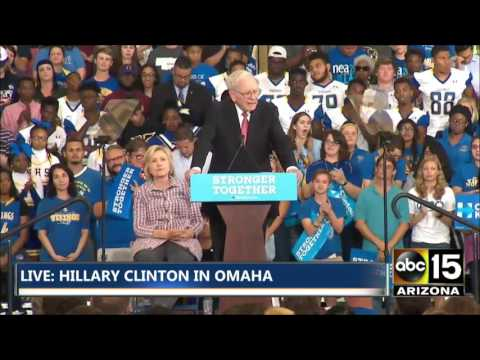 FULL EVENT: Hillary Clinton & Warren Buffett campaign event in Omaha, NE