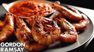 Sweet Pepper Sauce with Grilled Prawns - Gordon Ramsay