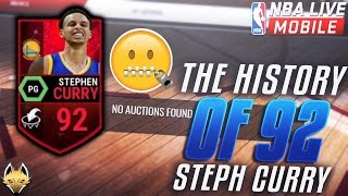 The History Of 92 Steph Curry!! The RAREST And GLITCH Card In NBA Live Mobile