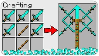 HOW TO CRAFT a MULTI SWORD of GOD in Minecraft? SECRET RECIPE *OVERPOWERED*