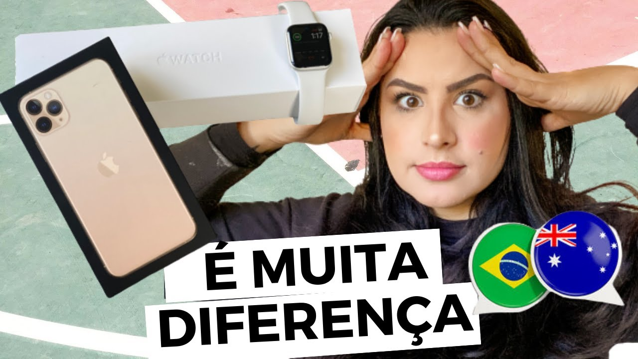 PREÇO DO IPHONE NA AUSTRALIA X BRASIL - COMPARANDO SALÁRIO +  UNBOXING iPhone 11proMax e Apple Watch