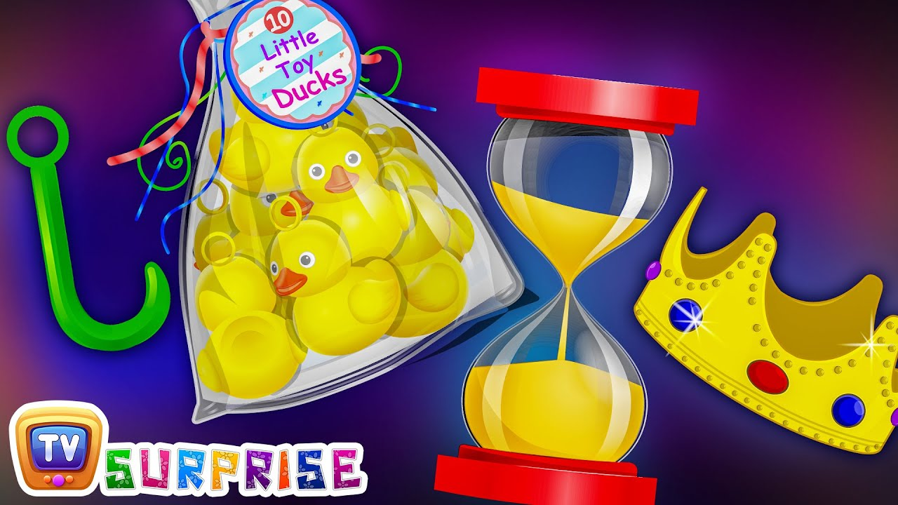 Surprise Eggs Nursery Rhymes Toys   Hook a Duck Game – Kids Fair / Carnival   ChuChu TV Egg Surprise