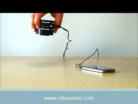 ViBoomer - Mini-enceinte à vibration pour iPhone, smartphone et lecteur mp3