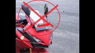 DILARANG!!! Melipat spion ketika riding...