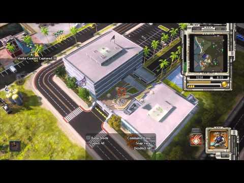 Red Alert 3 - Rising Sun Mission 6 - Santa Monica walkthrough (part 1/2)
