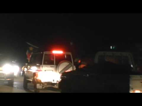 South Sudan Independence - Street celebrations at midnight in the capital Juba