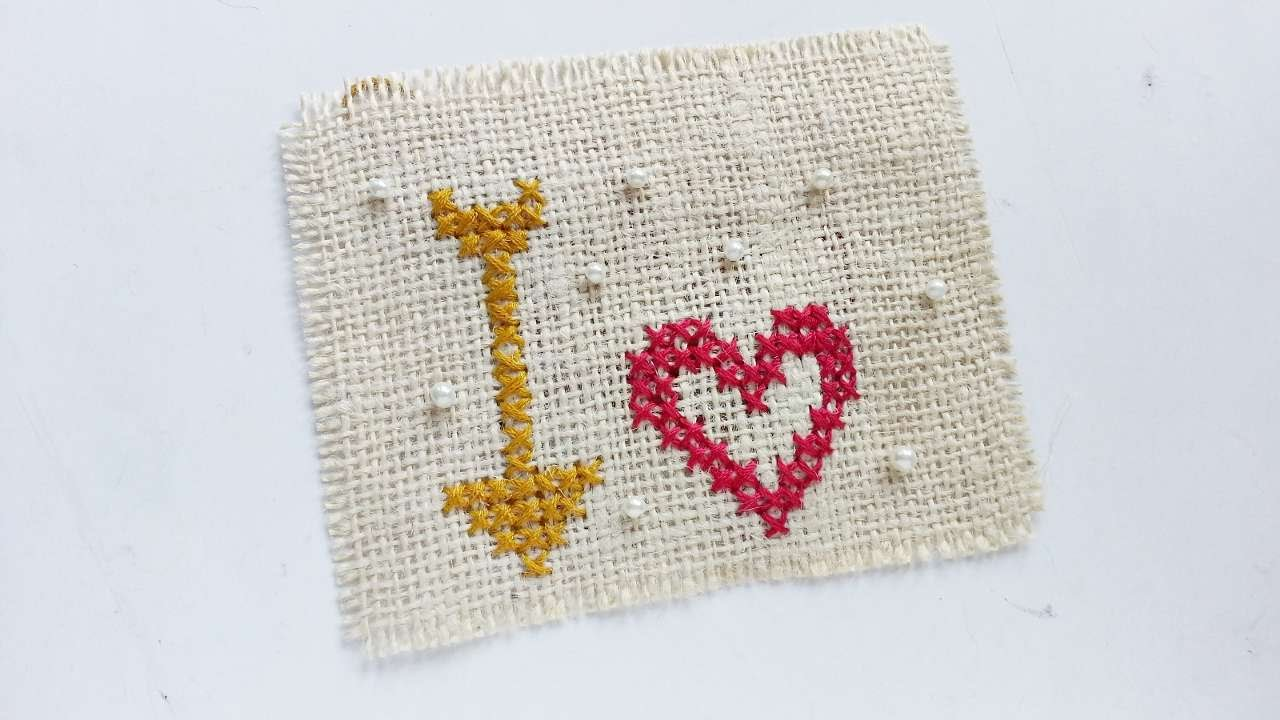 How To Create Heartarrow Cross Stitch  Diy Crafts Tutorial  Guidecentral