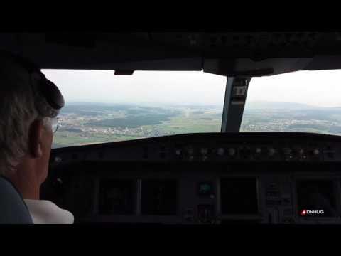 Last Flight Cockpit Landing A340 at Zurich PART ONE