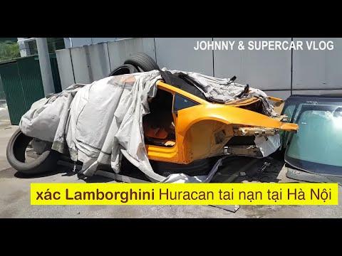 Xác siêu xe Lamborghini Huracan từng tại nạn tại Sài Gòn phơi nắng tại Hà Nội, Bán không nhỉ?