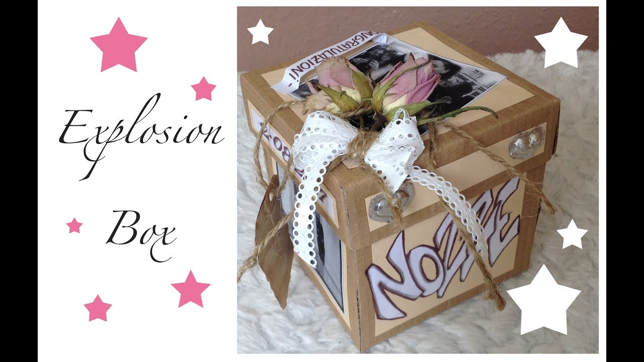 Matrimonio Box Bed : Explosion box come regalo di matrimonio diy youtube