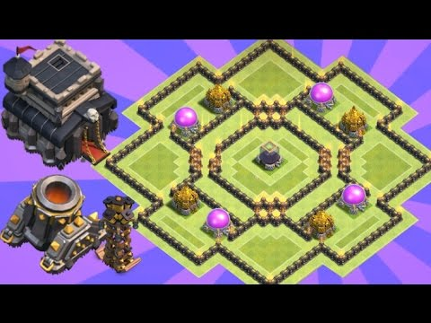 Th9 Farming Base 2017 Anti Dark Elixir & Trophy Base With Replay Anti Everything
