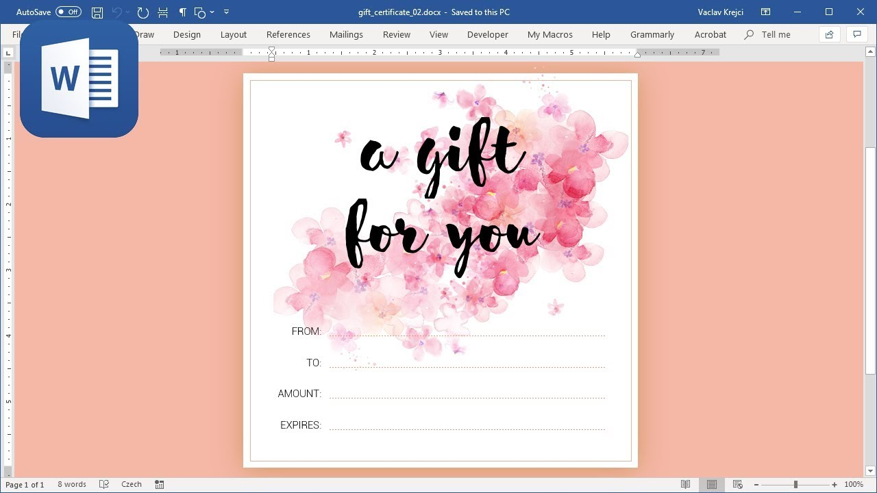 How to create Gift Card in Microsoft Word (Tutorial)