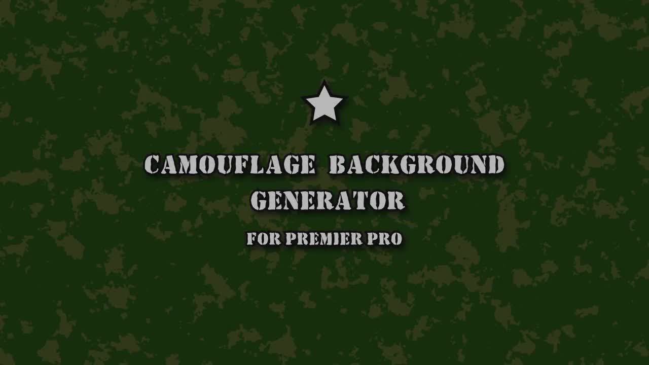 Camouflage Background Generator Motion Graphics Templates