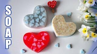 как сделать мыло сердце