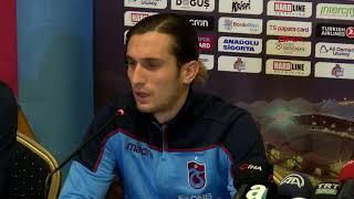 Trabzonsporlu Yusuf ve Pereira basın toplantısında konuştu