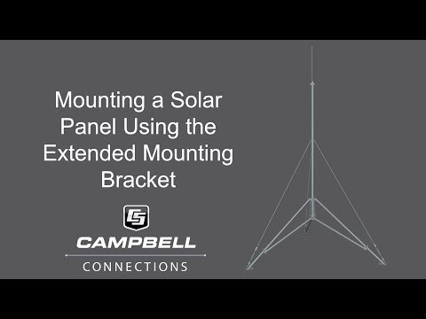Mounting a solar panel on a tripod using the solar panel extended bracket