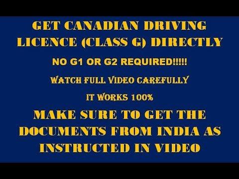 Directly Get G Licence In Canada (Ontario) , कनाडा में बिना टेस्ट के लाइसेंस प्राप्त करें ।