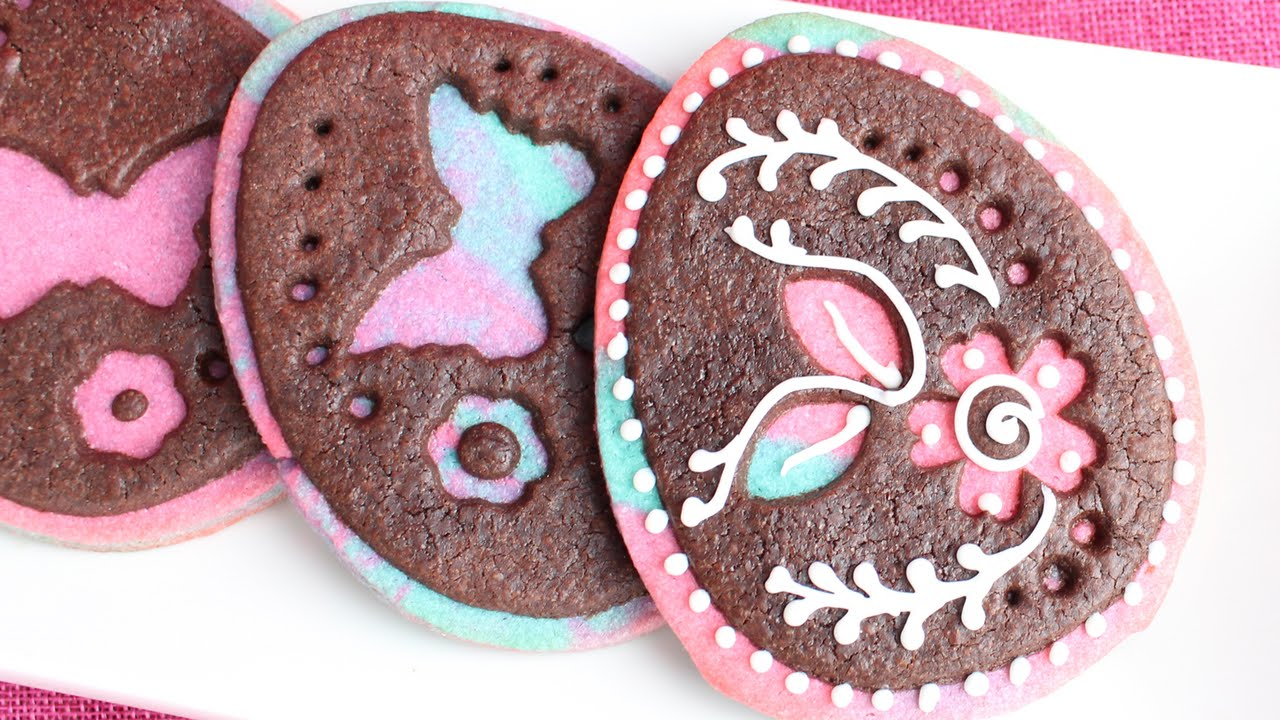 Cut Out Easter Egg Cookies