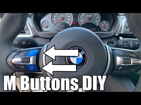 DIY BMW M buttons on the steering wheel install (M1 and M2): easy mod