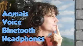 Video Aomais Voice Bluetooth Headphone review download MP3, 3GP, MP4, WEBM, AVI, FLV Juli 2018