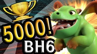 [Builder Hall 6] Trophy 5000 with BABYDRAGON ! l Clash of Clans