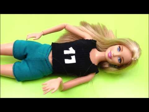 Diy shorts for Barbie │ Easy doll clothes diy │ How to make shorts for Barbie doll