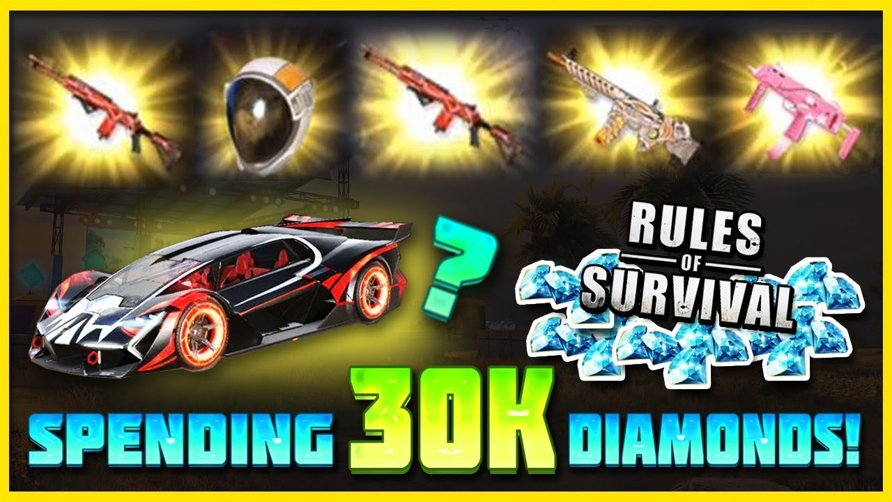 30000 Diamonds On New Update In Rules Of Survival Lucky Opening Nova