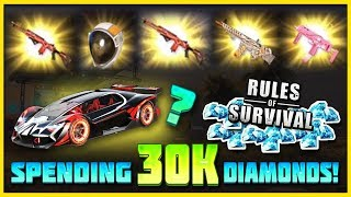 30000 DIAMONDS ON NEW UPDATE IN RULES OF SURVIVAL, LUCKY OPENING!! NOVA?!?!