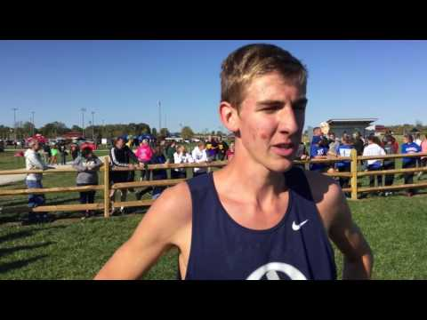 Curtis Eckstein (Oldenburg Academy, IN) 1st Place 14:34 (IN#1) Shelbyville XC Semi State