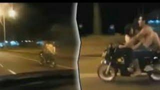 Abg kids jaman now, ciuman di atas motor #Rvlog Armink motovlog
