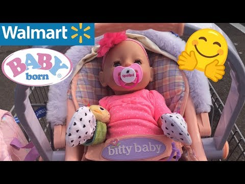 👶🏼 Baby Born outing to Walmart 🛒 with Desiree zapf creations baby born video