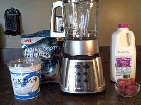 High Protein Strawberry Smoothie With Whey Protein - Post Workout Shake